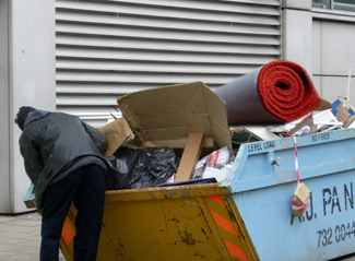 """""""It was just sitting there, right on top of the bin,"""" says 38-year-old Willie Scott."""